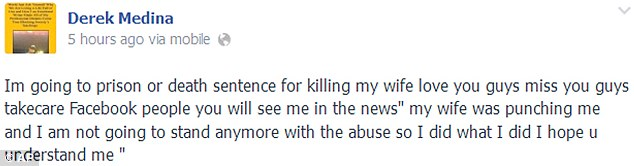 medina's facebook post